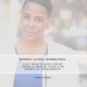 Life Coach Asha Eating Affirmation 2018
