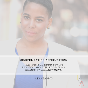Life Coach Asha Eating Affirmation 2018